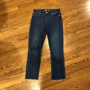 Old Navy Cropped Power Jean w/Frayed Hem 6T 6 Tall